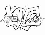 Coloring Pages Printable Drawings Easy Drawing Adults Cool Words Say Teenagers Teens Hearts Letters Graffiti Lettering Printables Paper Really Draw sketch template