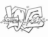 Coloring Printable Drawings Cool Words Adults Boyfriend Drawing Teens Teenagers Graffiti Paper Printables Say Enjoy Hearts Lettering sketch template