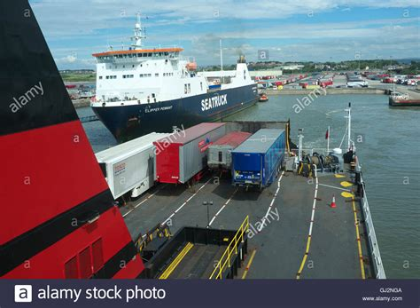 Ferry Bound by Isle Of Bound Ferry Departs Heysham Port In Lancashire