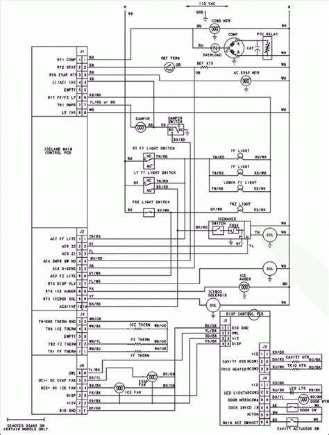 best wiring diagram of refrigerator whirlpool refrigerator