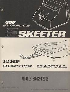 1969 Evinrude Skeeter 16 Hp Snowmobile Service Manual P  N
