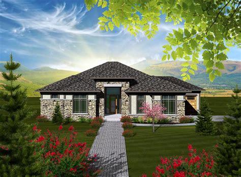 prairie style style house plan    bed  bath