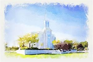 St Louis Temple - Watercolor Print in Temple