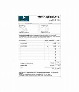 7 estimate invoice templates free word pdf excel With estimate and invoice templates