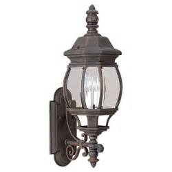 Outdoor Lighting Fixture Light Wall Entry Lantern Bronze Finish Carriage Tawny
