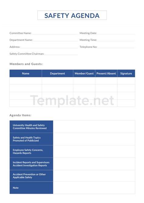 printable agenda templates  premium templates