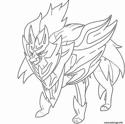Pokemon Coloriage Coloring Zamazenta Bouclier Legendaire Shield