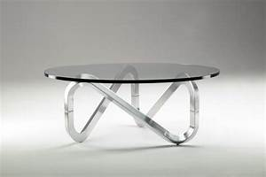 Libra tavolino in cristallo con base in alluminio o legno