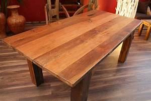 Rustikale Esstische Holz : esstisch schreibtisch 201x99x76 teak holz massiv ~ Michelbontemps.com Haus und Dekorationen