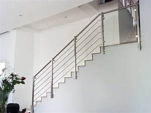 Rampe D Escalier Moderne : rampe escalier inox ~ Melissatoandfro.com Idées de Décoration