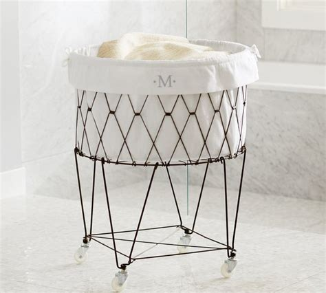 french wire hamper liner contemporary hampers