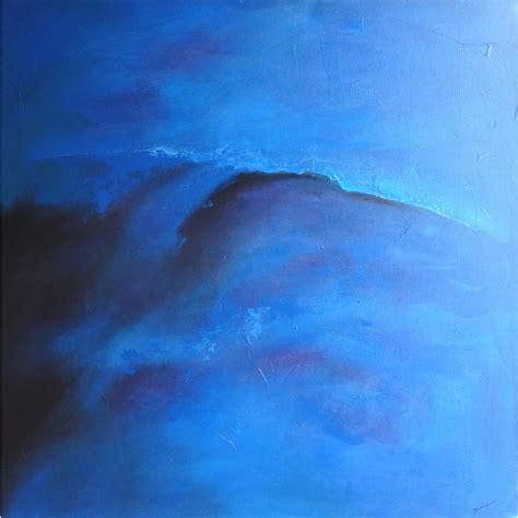 peinture de chambre tendance tableau abstrait bleu 120x120 idée déco chambre et salon