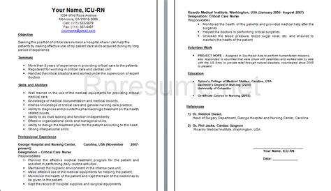 Icu Nursing Resume by Pin By Rn Resume On Rn Resume Nursing Resume Rn Resume