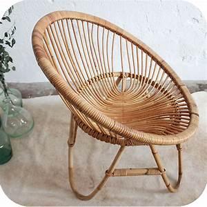 Fauteuil Rotin Rond : d278 mobilier vintage fauteuil rotin f atelier du petit parc ~ Dode.kayakingforconservation.com Idées de Décoration