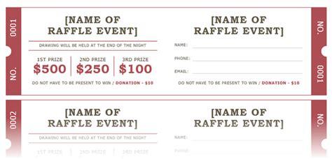 raffle ticket template  microsoft word