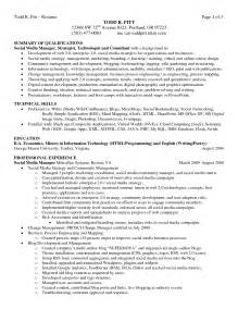 summary for resume with experience sle resume summary of qualifications technical skills