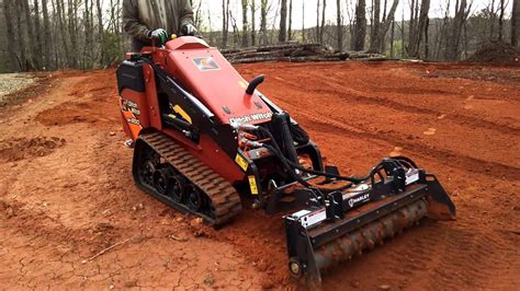 ditch witch sk mini skid steer  harley rake attachment youtube
