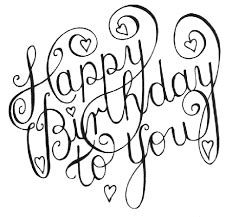 image result  happy birthday black  white happy