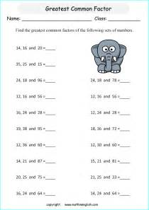 factoring numbers worksheets find the greatest common factor of 3 numbers up to 100 math factoring worksheet for grade 6 math