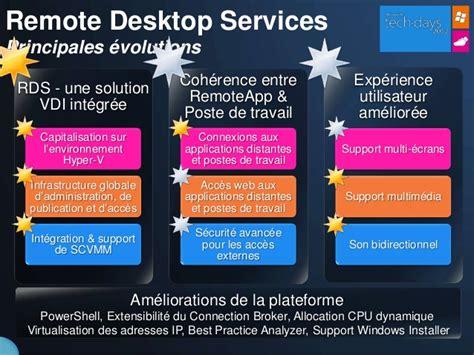 bureau distant windows 7 windows server 2008 r2 services de bureau distant
