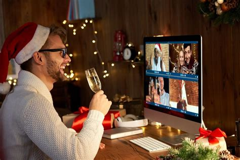 Includes unique ideas like a virtual card exchange and mystery holiday theatre 3000. Virtual Christmas party: ideas and games for hosting an online office party or Xmas bash with ...