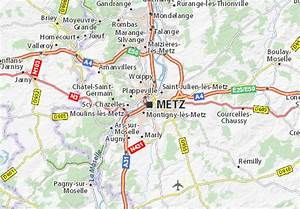 Plan De Metz : carte d taill e metz plan metz viamichelin ~ Farleysfitness.com Idées de Décoration