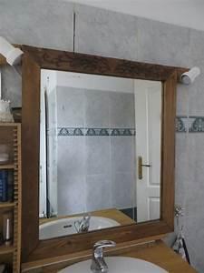 Miroir Cadre Bois : transformation salle de bain le nid hibou ~ Teatrodelosmanantiales.com Idées de Décoration