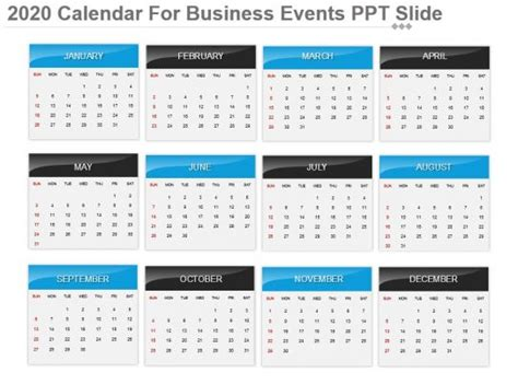 calendar business powerpoint