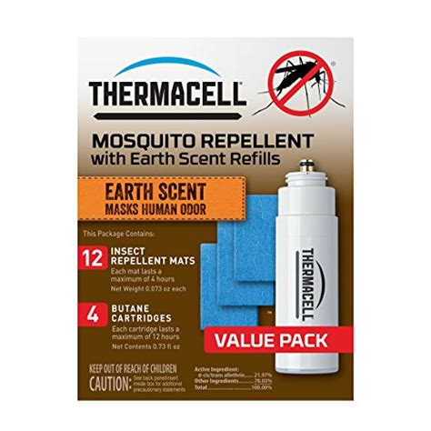 thermacell e 4 mosquito repeller refill with earth scent
