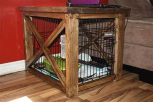 diy dog crate covers rustic   table  cover  dog
