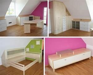 Kleine Kinderzimmer Gestalten : jugendzimmer einrichten dachschr ge ~ Sanjose-hotels-ca.com Haus und Dekorationen