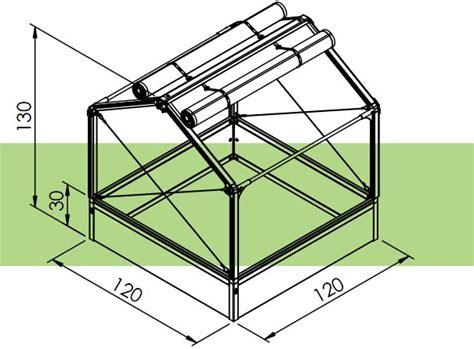 Growcamp Hochbeet 120x120x130 Cm  Frühbeet Gewächshaus