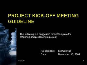 kick off meeting presentation With project kickoff meeting presentation template