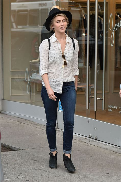 JULIANNE HOUGH in Jeans Out and About in Los Angeles ...
