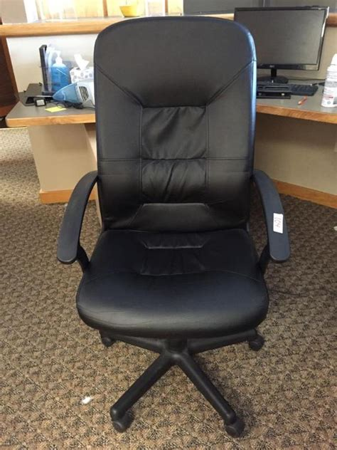 ikea verner black leather like office chair