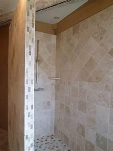salle de bains en pierres naturelles azur agencement With salle de bain pierre