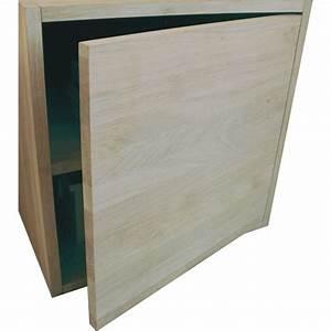 Cube Bois Rangement : porte pour cube de rangement avec tag re en bois de ch ne ~ Edinachiropracticcenter.com Idées de Décoration