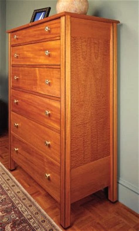 tall wood dresser  woodworking project plans