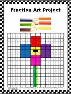 Fraction Graph Chart Fraction Art Project Fraction Art Fractions Math Projects