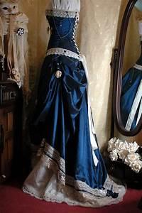 Steampunk dress steampunk dresses blue of wedding dresses for Wedding dress steaming