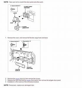 Honda 1999 Crv Trying To Remove Interior Molding On Tailgate Door Any Diagrams  Exploded Views