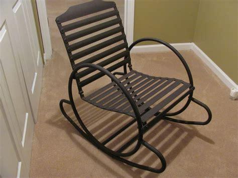 retro metal outdoor rocking chair collectors weekly