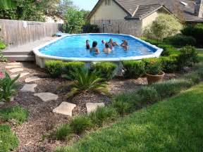 Landscaping Ideas around Above Ground Pools