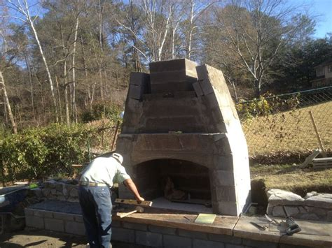 Half Way There  Build Your Own Outdoor Fireplace Pinterest
