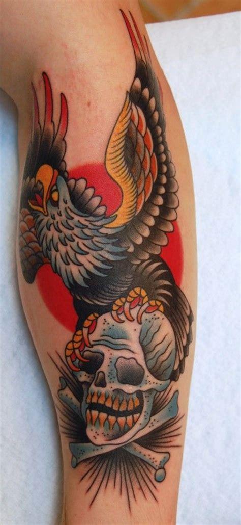ideas  traditional eagle tattoo  pinterest