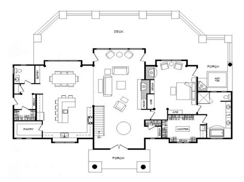 Log Home Open Floor Plan Luxury Log Homes, Open Floor Plan