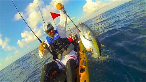 fishing kayak shark tuna florida attack