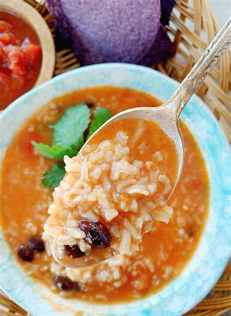 mexican rice  bean soup foodtastic mom