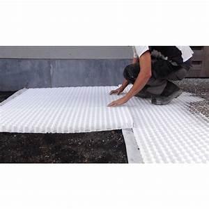 Stabilisateur de gravier découpable L 160 x l 120cm blanc Dalle de terrasse Revêtement