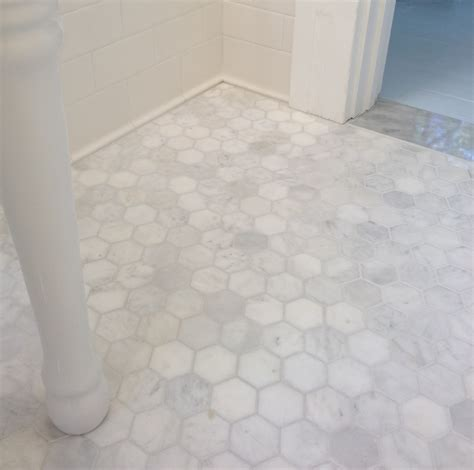 marble hexagon tile grey grout subway tile porcelain